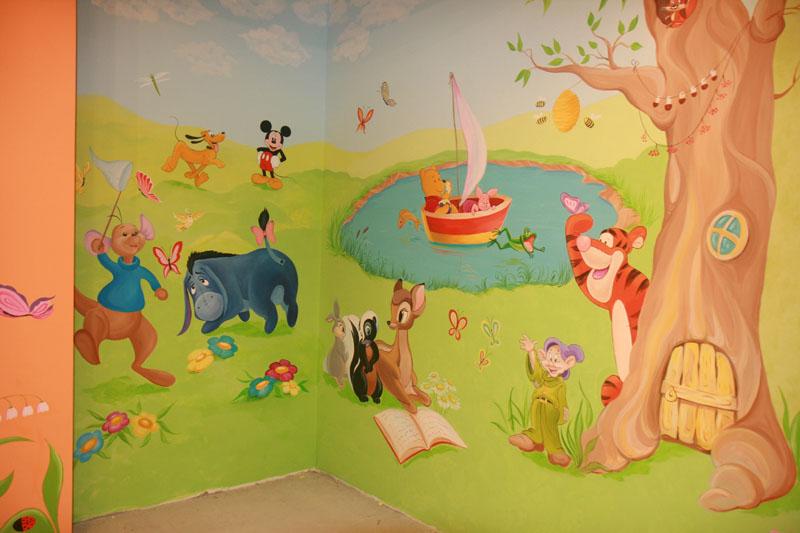 Роспись детской в частном интерьере