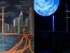 Ночной город с флуорисцентом