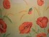 роспись стен цветы на стене