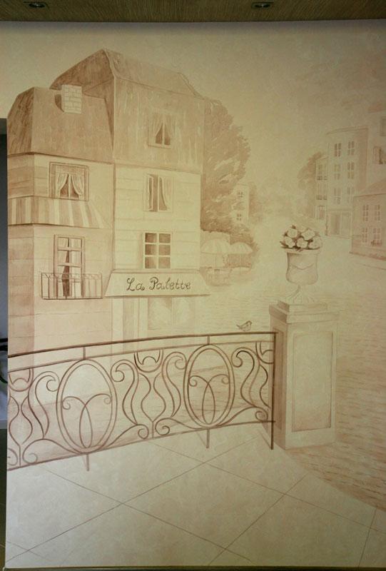 Париж в стиле гризайль