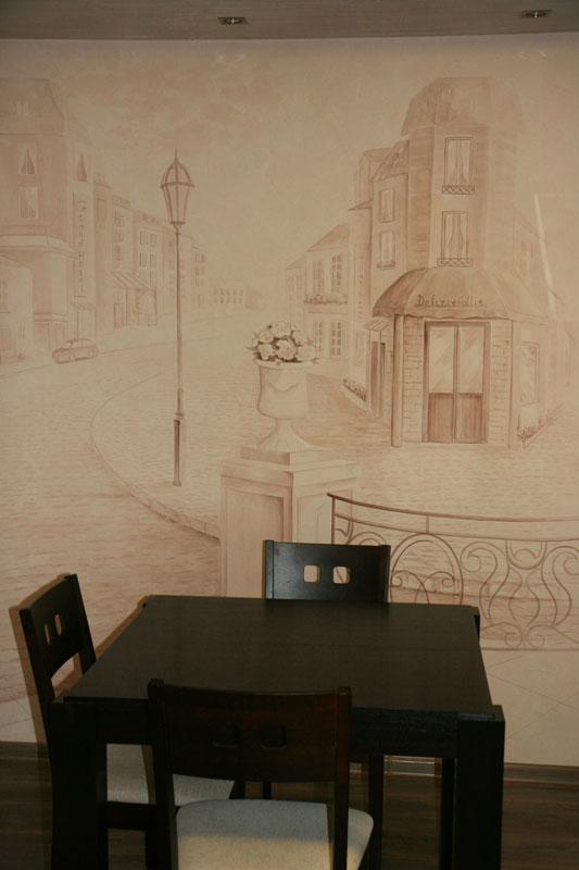 Общий вид на роспись стены справа