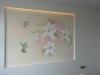Колибри и лилии с объемом в спальне